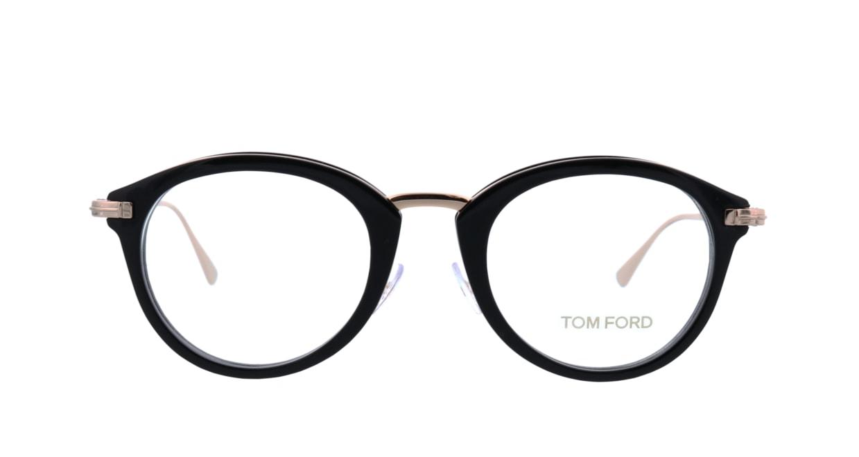 トムフォード FT5497-001-48 [黒縁/丸メガネ]