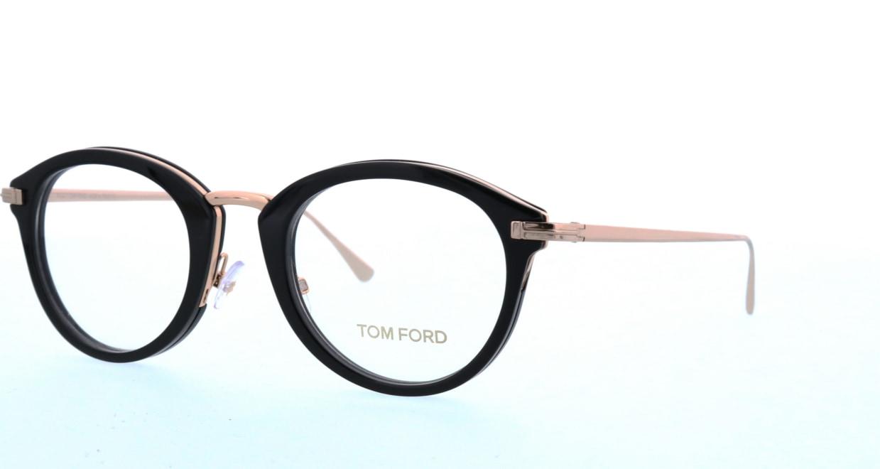 トムフォード FT5497-001-48 [黒縁/丸メガネ]  1