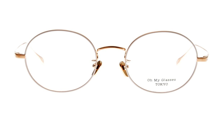 Oh My Glasses TOKYO Lia omg-088-BE-48 [メタル/鯖江産/丸メガネ/白]
