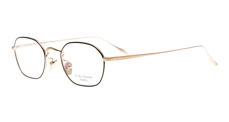Oh My Glasses TOKYO Reggie omg-089-BKG-47 [メタル/鯖江産/スクエア]  1