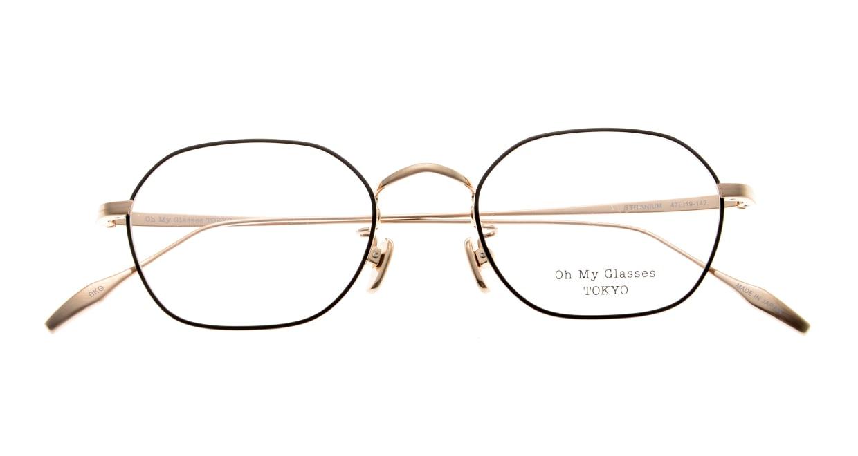 Oh My Glasses TOKYO Reggie omg-089-BKG-47 [メタル/鯖江産/スクエア]  4