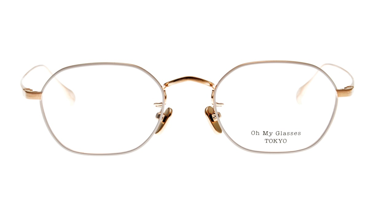 Oh My Glasses TOKYO Reggie omg-089-BE-47 [メタル/鯖江産/スクエア/白]