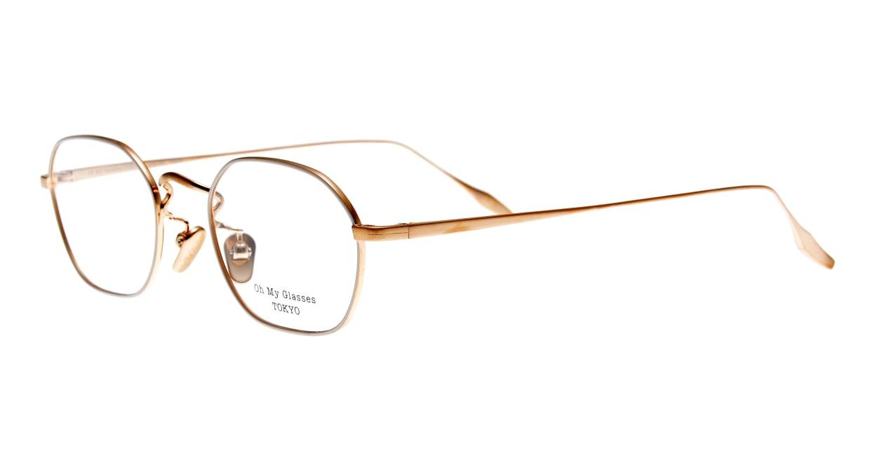 Oh My Glasses TOKYO Reggie omg-089-BE-47 [メタル/鯖江産/スクエア/白]  1