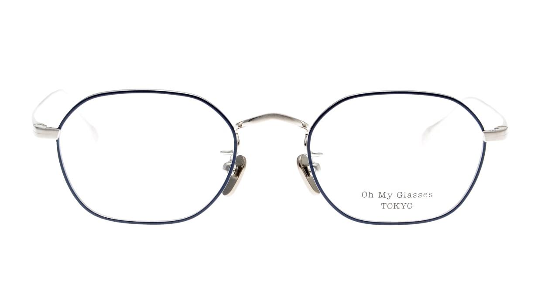 Oh My Glasses TOKYO Reggie omg-089-NV-47 [メタル/鯖江産/スクエア/青]