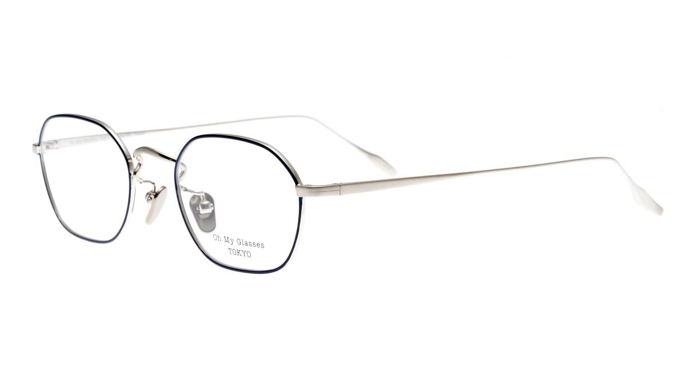 Oh My Glasses TOKYO Reggie omg-089-NV-47 [メタル/鯖江産/スクエア/青]  1