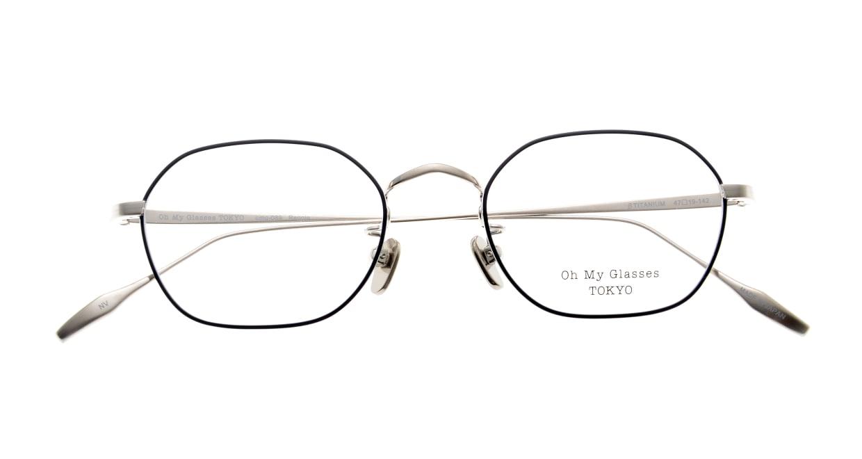 Oh My Glasses TOKYO Reggie omg-089-NV-47 [メタル/鯖江産/スクエア/青]  4