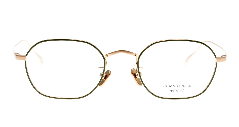 Oh My Glasses TOKYO Reggie omg-089-GR-47 [メタル/鯖江産/スクエア/緑]
