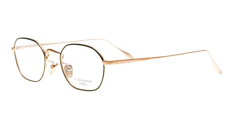 Oh My Glasses TOKYO Reggie omg-089-GR-47 [メタル/鯖江産/スクエア/緑]  1