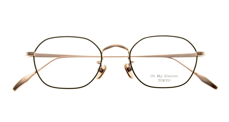 Oh My Glasses TOKYO Reggie omg-089-GR-47 [メタル/鯖江産/スクエア/緑]  4