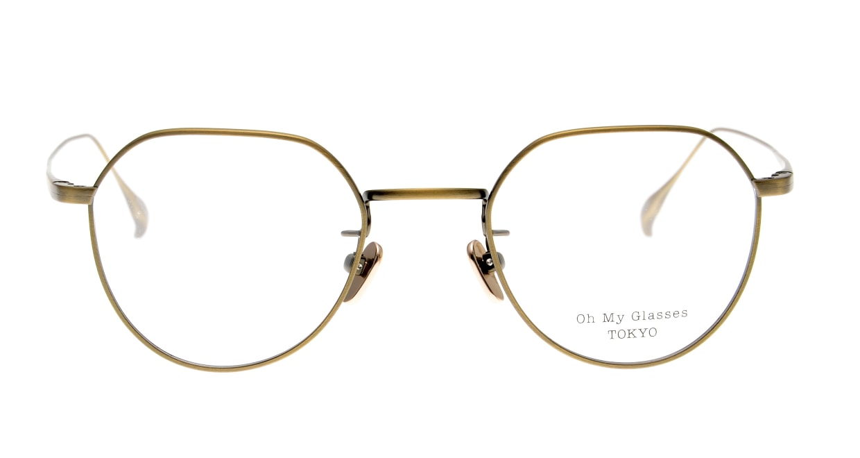 Oh My Glasses TOKYO Barry omg105-ATG-46 [メタル/鯖江産/丸メガネ/ゴールド]