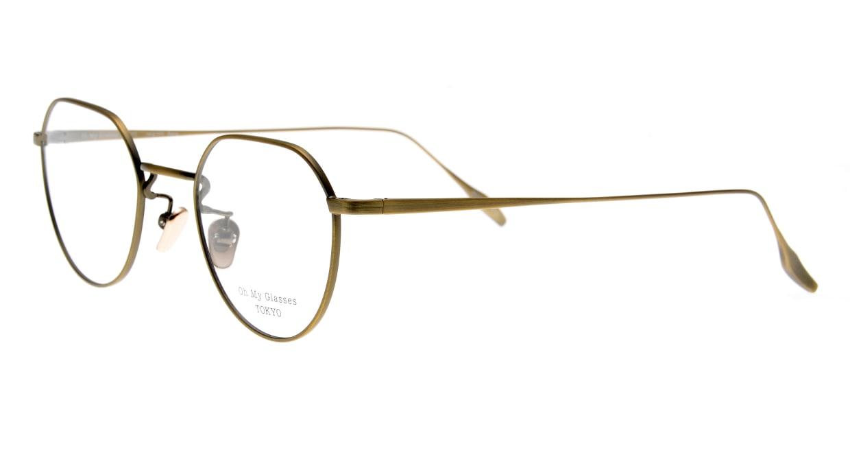 Oh My Glasses TOKYO Barry omg105-ATG-46 [メタル/鯖江産/丸メガネ/ゴールド]  1