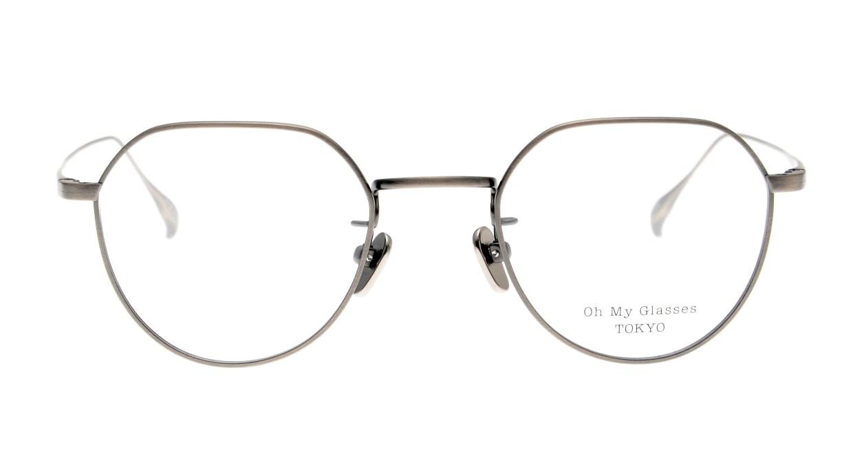 Oh My Glasses TOKYO Barry omg105-ATS-46 [メタル/鯖江産/丸メガネ/シルバー]