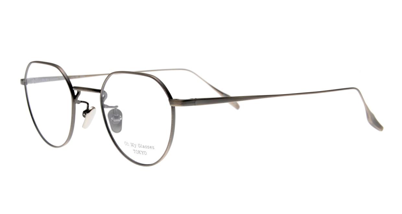 Oh My Glasses TOKYO Barry omg105-ATS-46 [メタル/鯖江産/丸メガネ/シルバー]  1