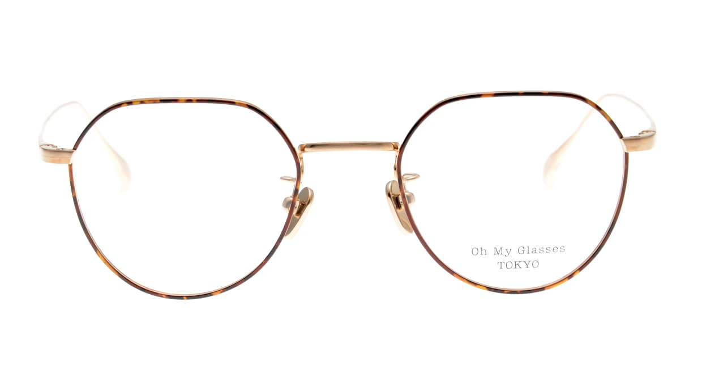Oh My Glasses TOKYO Barry omg105-DM-46 [メタル/鯖江産/丸メガネ/べっ甲柄]