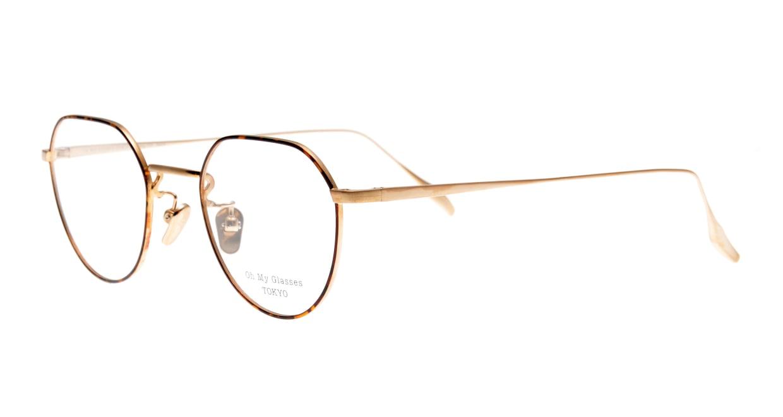 Oh My Glasses TOKYO Barry omg105-DM-46 [メタル/鯖江産/丸メガネ/べっ甲柄]  1
