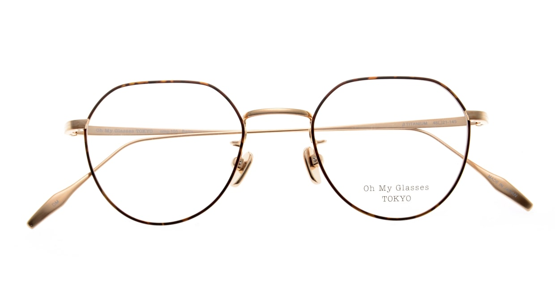 Oh My Glasses TOKYO Barry omg105-DM-46 [メタル/鯖江産/丸メガネ/べっ甲柄]  4