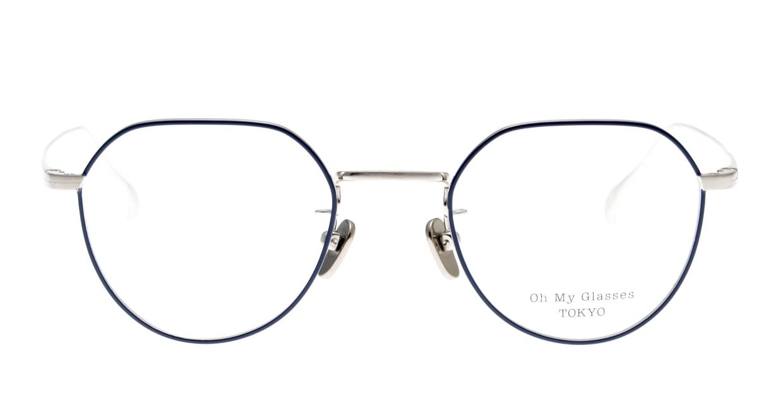 Oh My Glasses TOKYO Barry omg105-NV-46 [メタル/鯖江産/丸メガネ/青]