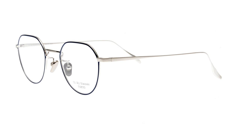 Oh My Glasses TOKYO Barry omg105-NV-46 [メタル/鯖江産/丸メガネ/青]  1