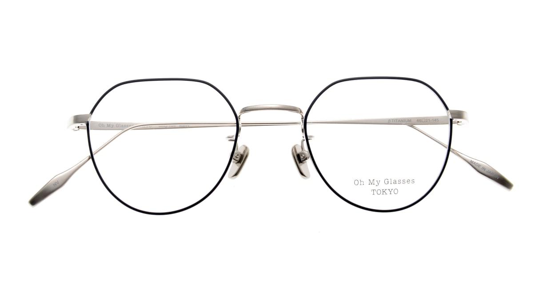 Oh My Glasses TOKYO Barry omg105-NV-46 [メタル/鯖江産/丸メガネ/青]  4