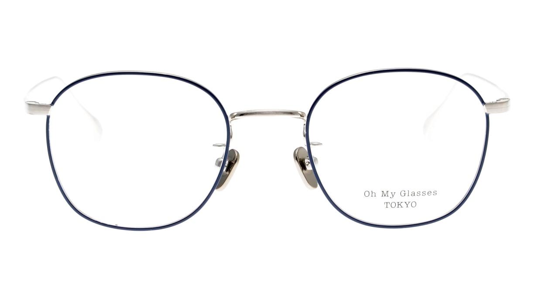 Oh My Glasses TOKYO Curtis omg106-NV-47 [メタル/鯖江産/ウェリントン/青]