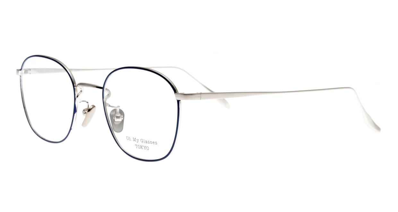 Oh My Glasses TOKYO Curtis omg106-NV-47 [メタル/鯖江産/ウェリントン/青]  1