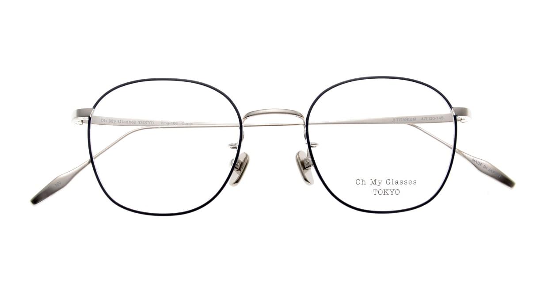 Oh My Glasses TOKYO Curtis omg106-NV-47 [メタル/鯖江産/ウェリントン/青]  4