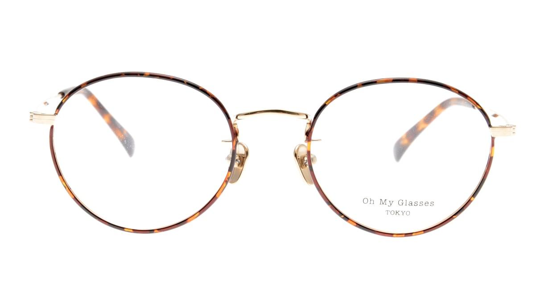 Oh My Glasses TOKYO George2 omg-110-DM-49 [メタル/鯖江産/丸メガネ/べっ甲柄]