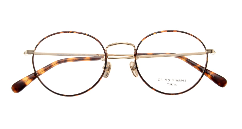 Oh My Glasses TOKYO George2 omg-110-DM-49 [メタル/鯖江産/丸メガネ/べっ甲柄]  4