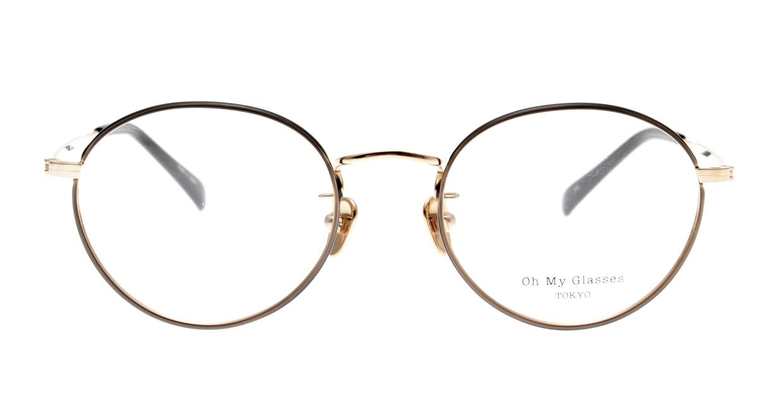 Oh My Glasses TOKYO George2 omg-110-BKG-49 [メタル/鯖江産/丸メガネ]