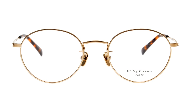 Oh My Glasses TOKYO George2 omg-110-GD-49 [メタル/鯖江産/丸メガネ/ゴールド]