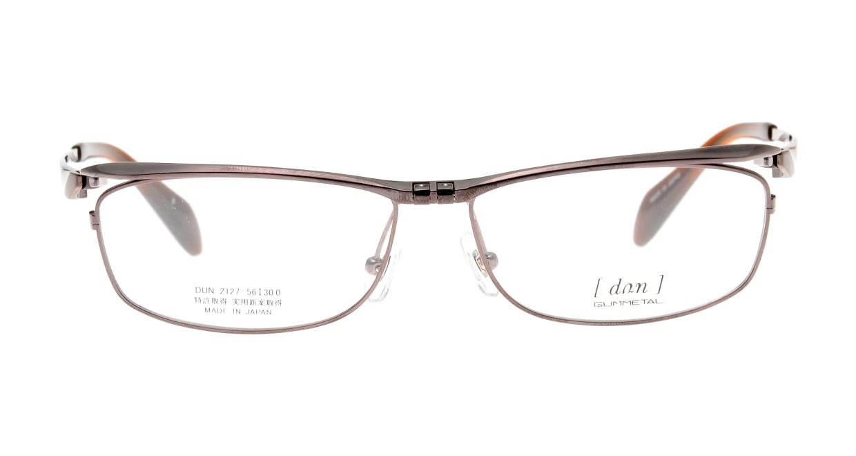 ドゥアン DUN-2127-3-56 [メタル/鯖江産/スクエア/茶色]