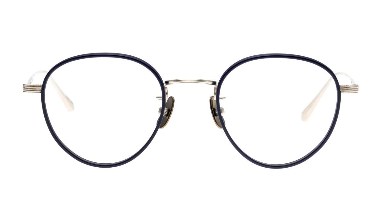 seem Oh My Glasses TOKYO Lester omg-107-NV-47 [メタル/鯖江産/丸メガネ/青]