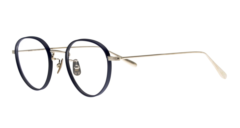 Oh My Glasses TOKYO Lester omg-107-NV-47 [メタル/鯖江産/丸メガネ/青]  1