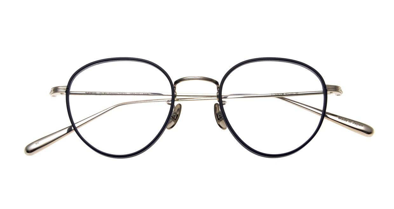seem Oh My Glasses TOKYO Lester omg-107-NV-47 [メタル/鯖江産/丸メガネ/青]  4