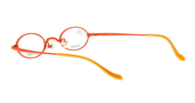 ティフィール CHAO-5-41 [メタル/鯖江産/オーバル/オレンジ]  3
