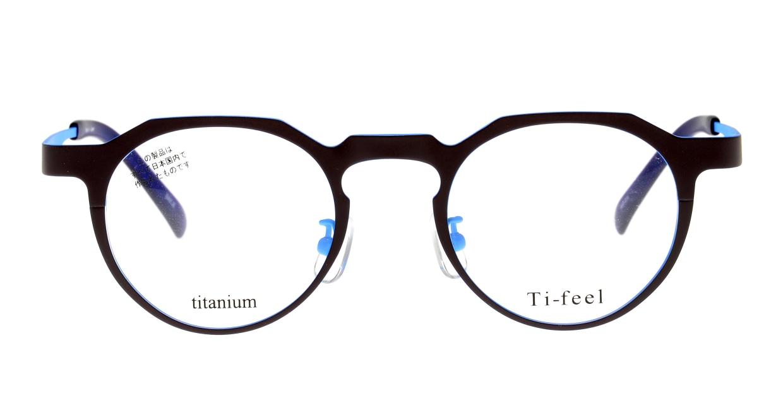 ティフィール DICE-39-24-46 [メタル/鯖江産/丸メガネ/茶色]