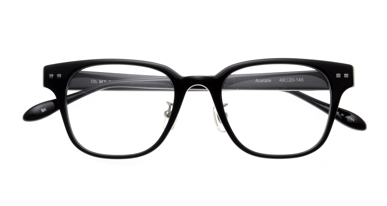 Oh My Glasses TOKYO Elvis omg-113-BK-49 [黒縁/鯖江産/ウェリントン]  4