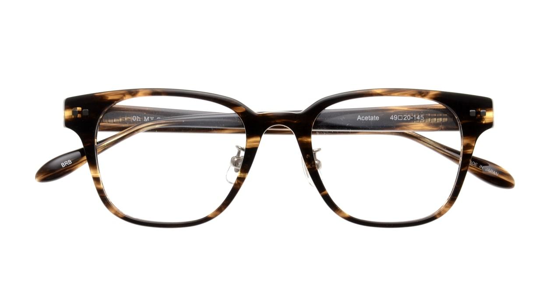 Oh My Glasses TOKYO Elvis omg-113-BRB-49 [鯖江産/ウェリントン/茶色]  4