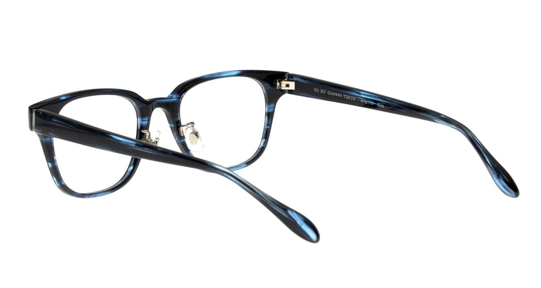 Oh My Glasses TOKYO Elvis omg-113-BLB-49 [鯖江産/ウェリントン/青]  3