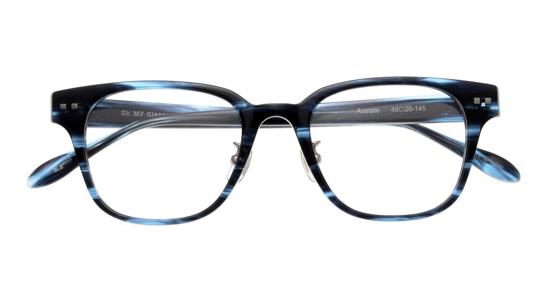 Oh My Glasses TOKYO Elvis omg-113-BLB-49 [鯖江産/ウェリントン/青]  4