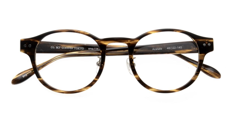 Oh My Glasses TOKYO Doris omg-114-BRB-48 [鯖江産/丸メガネ/茶色]  4