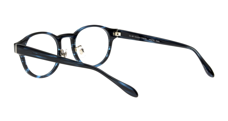 Oh My Glasses TOKYO Doris omg-114-BLB-48 [鯖江産/丸メガネ/青]  3