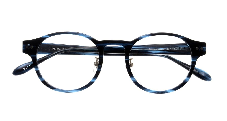 Oh My Glasses TOKYO Doris omg-114-BLB-48 [鯖江産/丸メガネ/青]  4