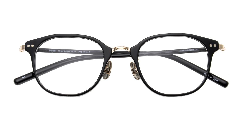 seem Oh My Glasses TOKYO Sarah omg-120-BKG-48 [黒縁/鯖江産/ウェリントン]  3