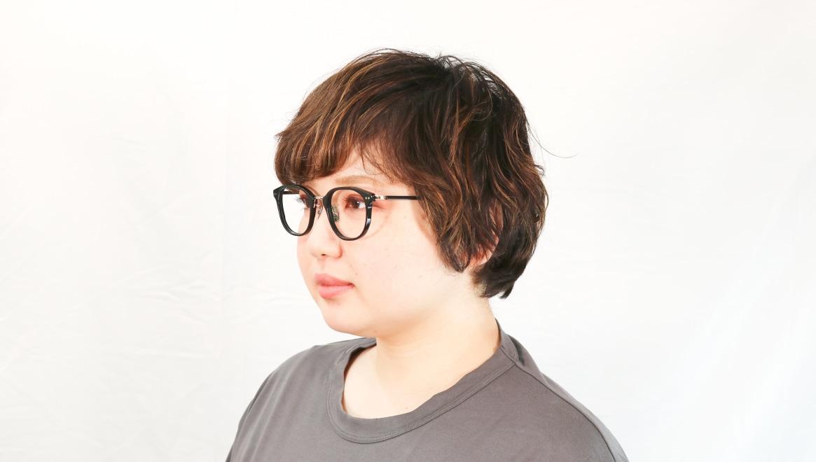 seem Oh My Glasses TOKYO Sarah omg-120-BKG-48 [黒縁/鯖江産/ウェリントン]  7