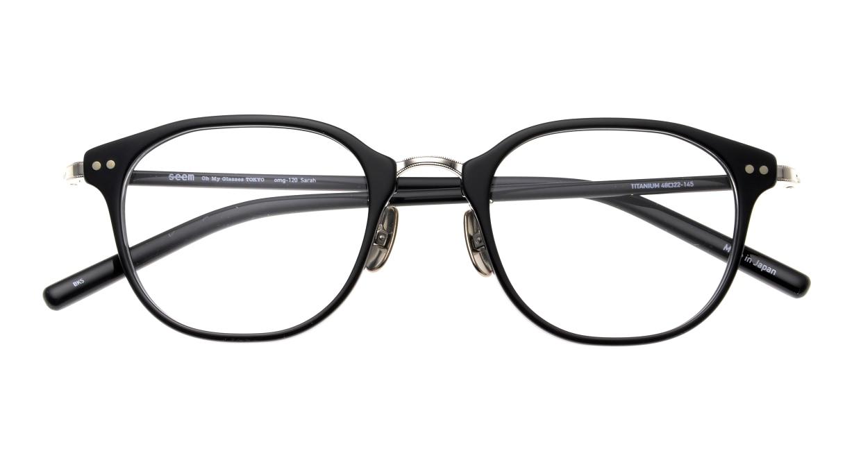 seem Oh My Glasses TOKYO Sarah omg-120-BKS-48 [黒縁/鯖江産/ウェリントン]  4