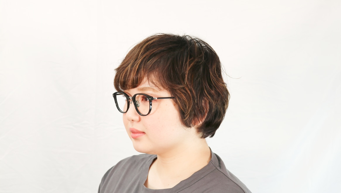 seem Oh My Glasses TOKYO Sarah omg-120-BKS-48 [黒縁/鯖江産/ウェリントン]  8