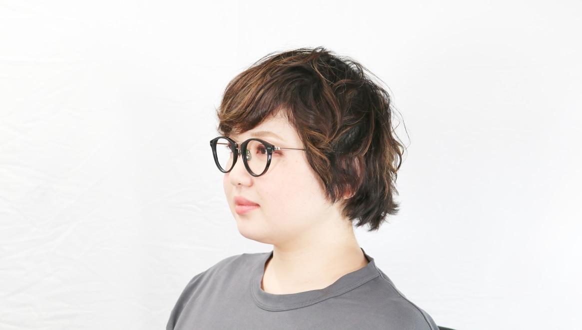 seem Oh My Glasses TOKYO Nina omg-121-BKG-47 [黒縁/鯖江産/丸メガネ]  8