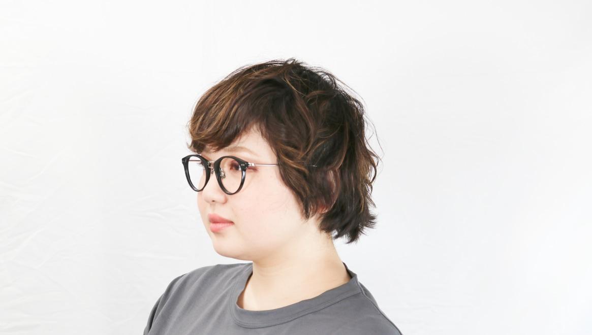 seem Oh My Glasses TOKYO Nina omg-121-BKS-47 [黒縁/鯖江産/丸メガネ]  8