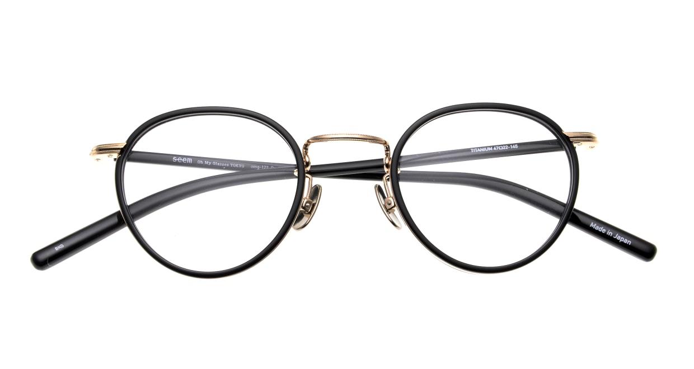 seem Oh My Glasses TOKYO Dexter omg-122-BKG-47 [黒縁/鯖江産/丸メガネ]  4